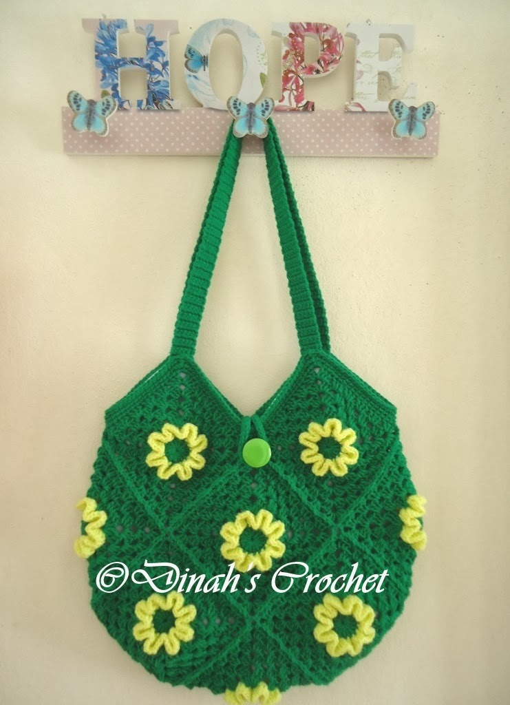 Dinah crochet november 2013 green tote bag ccuart Image collections