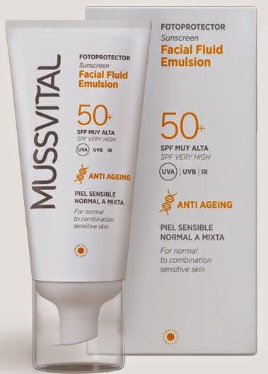 Mussvital Fluid Spf 50+ proteccion solar facial