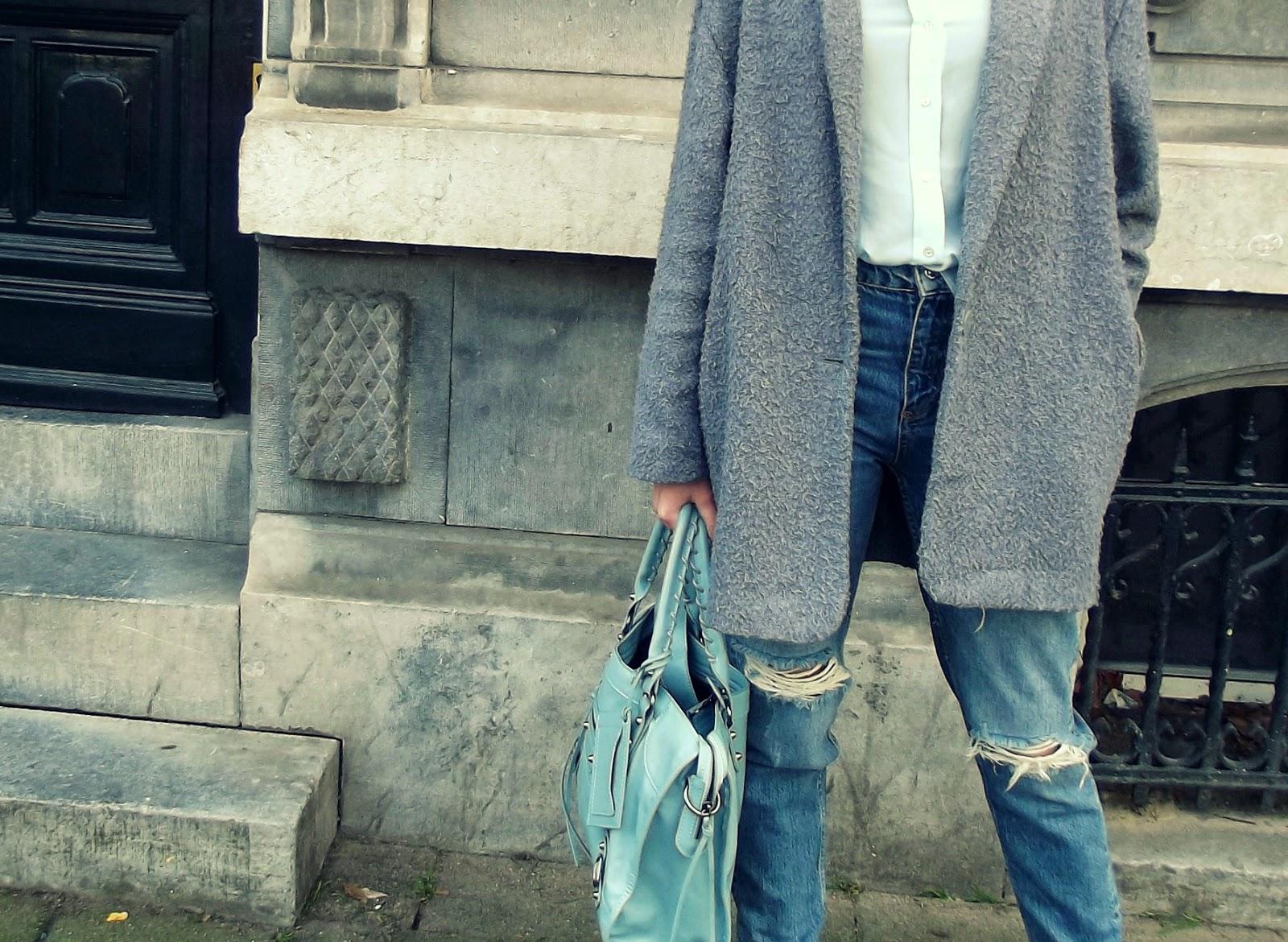 outfit fashion blogger jeans balenciaga