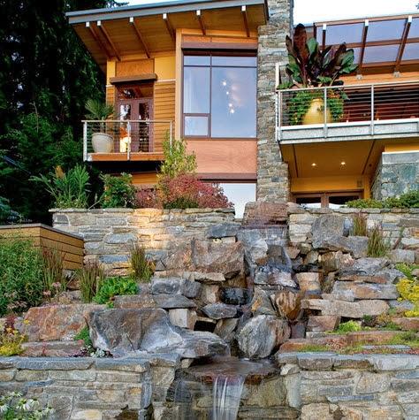 Fachadas de casas modernas en el campo dise os y estilos - Recubrimientos para fachadas ...