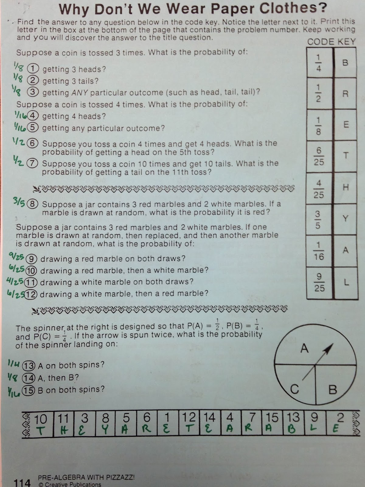 Crack The Code Math Worksheet Gallery - worksheet for kids in english