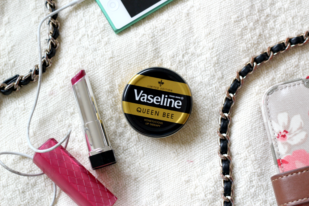Vaseline queen bee lip balm, dry lip remedies, queen bee lips review