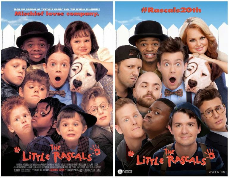 The Little Rascals movie poster recreated after 20 years