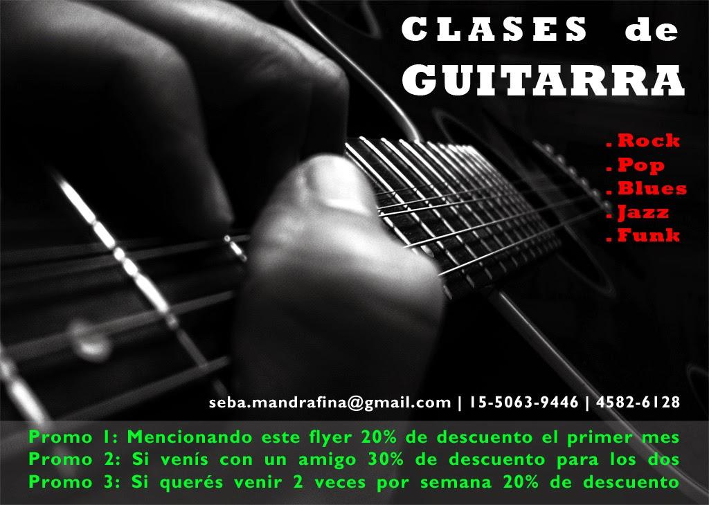 Clases de guitarra en Capital, guitarra eléctrica, criolla, acústica. Rock Pop Blues Jazz Funk.