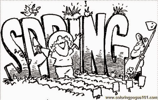 Free Spring Coloring Pages Free Coloring Pictures