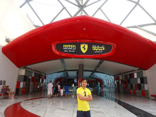 Ed in Ferrari World Yas Island Abu Dhabi