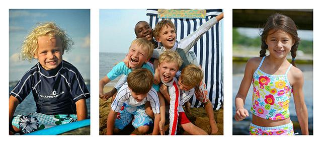 Snapper Rock Kids Swimwear with Sun Protection