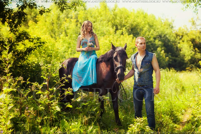 сьемка с лошадьми