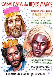 Higuera de la Sierra (Huelva) - Cabalgata de Reyes Magos 2015
