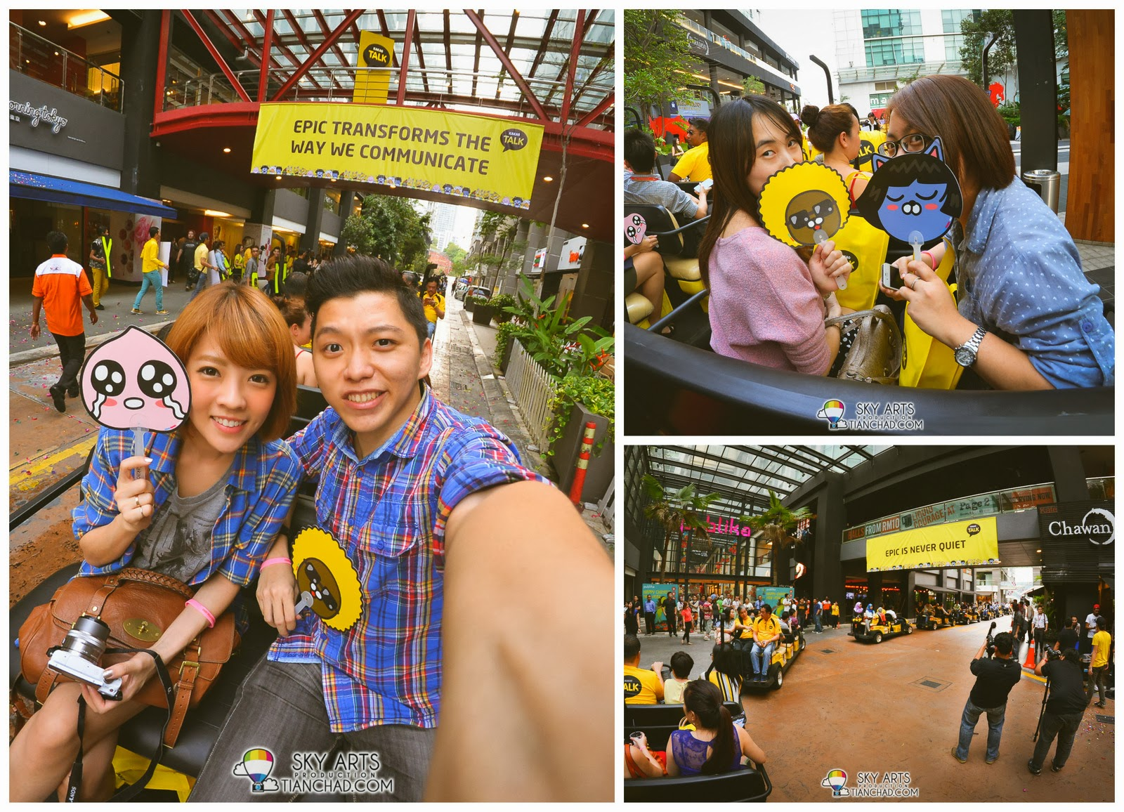 Selfie with Bobo and friends on the KakaoTalk Buggy ride