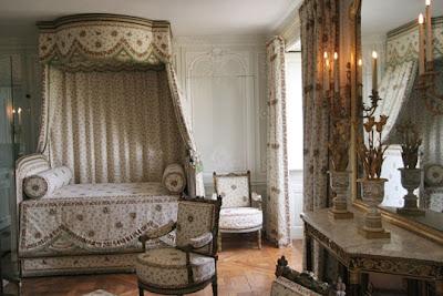 Maison de lin en visite chez marie antoinette - Chambre de la reine versailles ...