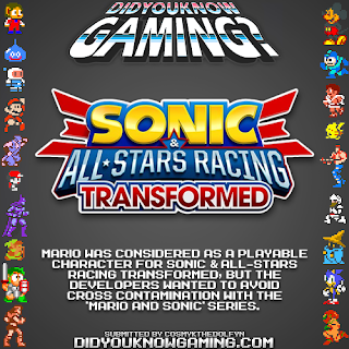 sonic racing mario fact Random Game Facts   Mario In Another Sonic Game?