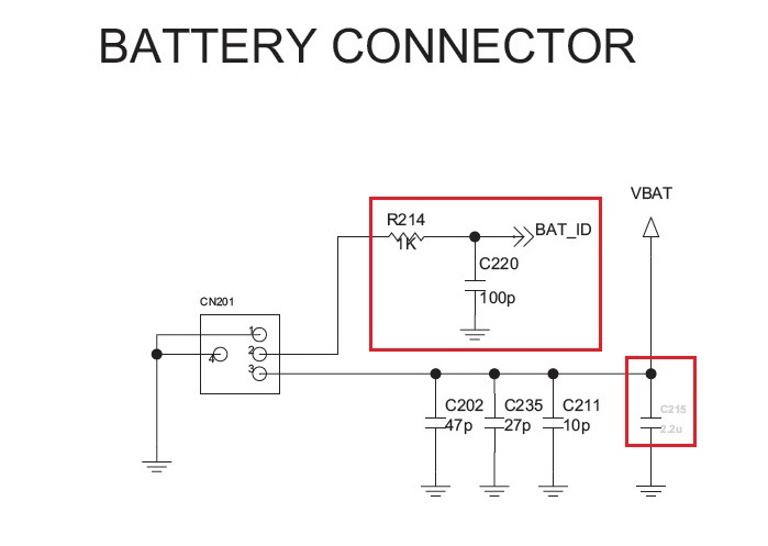 lg gx500 battery connector ways jumper
