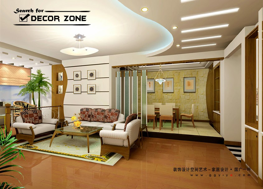 modern POP false ceiling designs for living room - 25 Modern POP False Ceiling Designs For Living Room