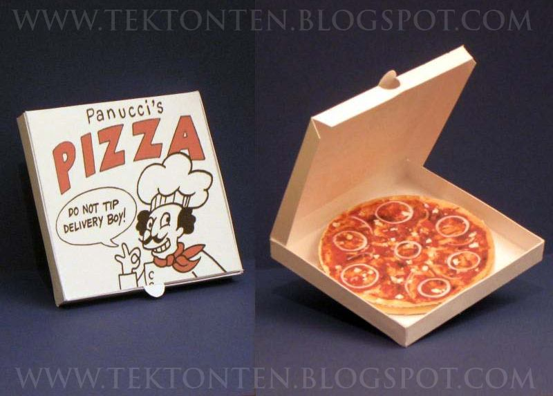 Futurama Pizza Papercraft
