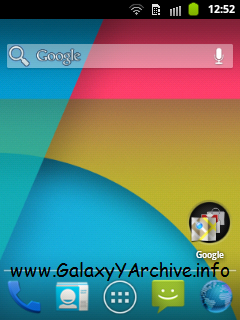 Android 4.4 KitKat Icon Pack para Samsung Galaxy Y GT-S5360