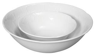 Bol salata catering, din portelan alb, se poate folosi la masina de vase si cuptorul cu microunde in conditii de siguranta