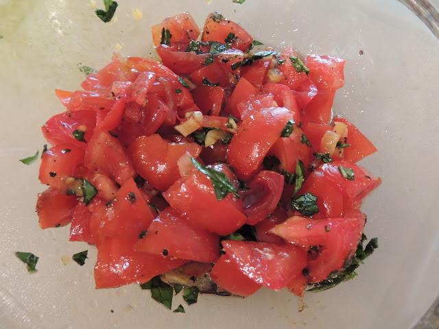 tomato salad for focaccia