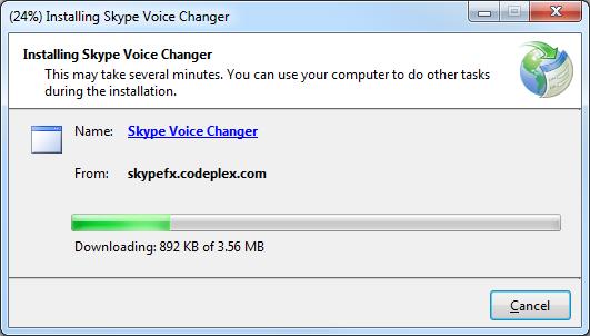Installing Skype Voice Changer