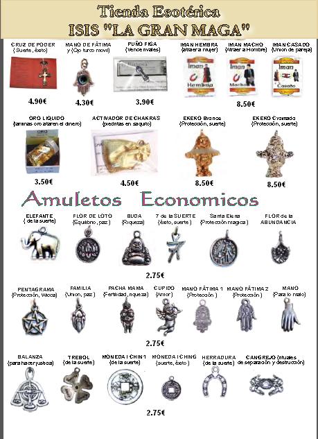 CATÁLOGO AMULETOS ESOTÉRICOS