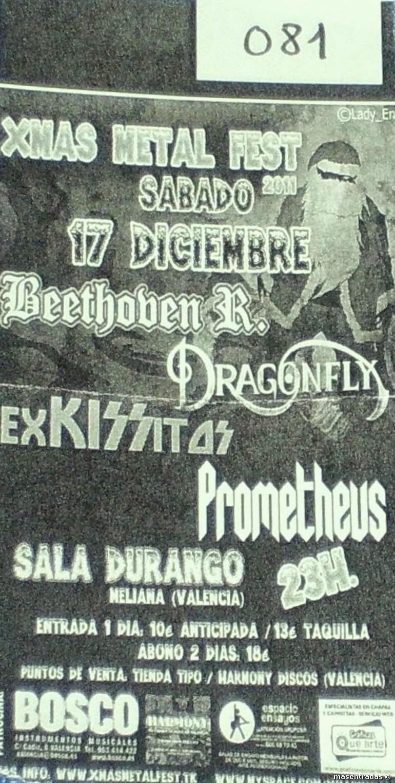entrada concierto xmas metal fest 2011