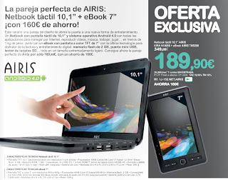 netbook airis ebook tab200