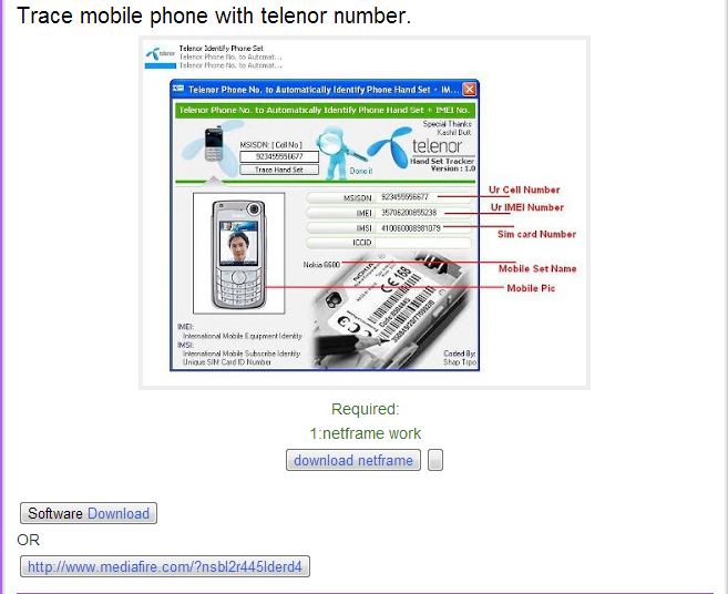 Trace number phone