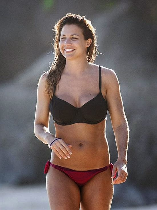Looking body confident, the British buxom, Gemma Atkinson treated herself to some alone time with boyfriend, Olly Foster in the sunshine of Bali on Friday, June 27, 2014.