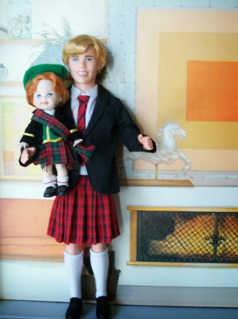 Mattel High School Musical Ryan and Mattel Scottish Tommy in kilts