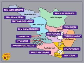 Peta Lokasi PPM Daerah
