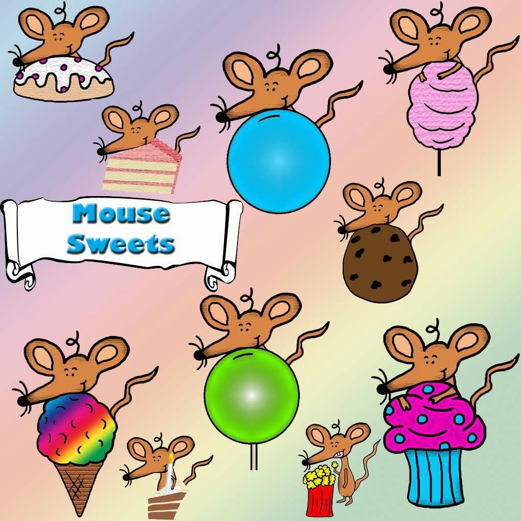 "Mouse Sweets Clipart ""For Sale For Commercial Use"""