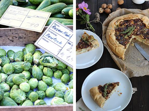 Rosenkohl-Petersilienwurzel-Quiche mit Thymian und Walnüssen Herbstrezept Rezept Holunderweg18 Foodblog