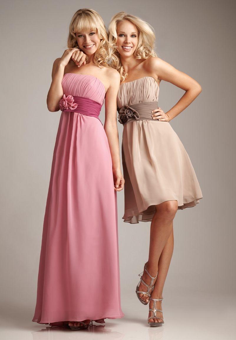 Whiteazalea bridesmaid dresses how to choose autumn bridesmaid chiffon strapless a line shortlong bridesmaid dress ombrellifo Images