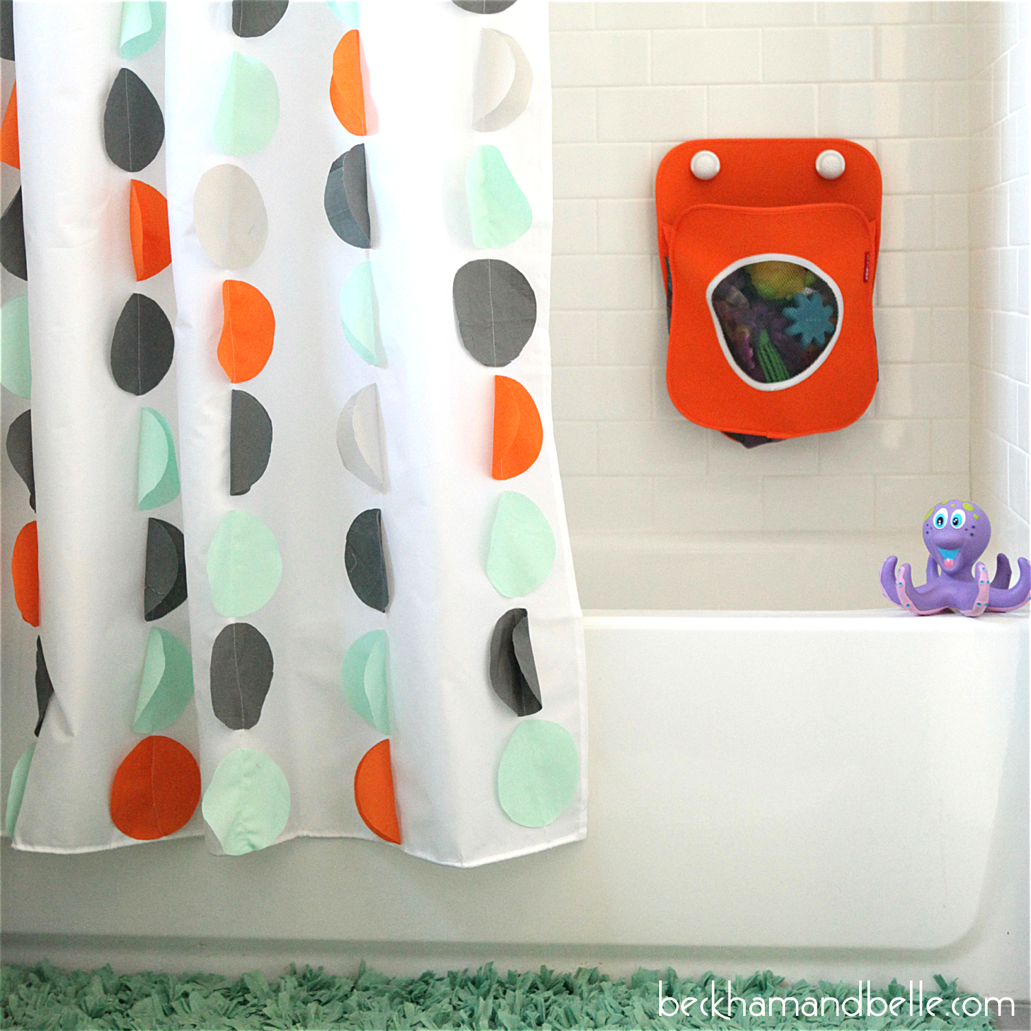 Land Of Nod Inspired DIY Kids Shower Curtain   Confetti Circles
