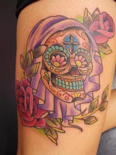 fotos de Tatuagem de Caveira Mexicana