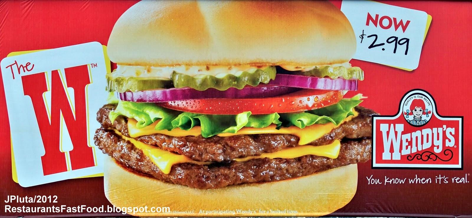 ... sign wendy s old fashioned hamburgers fast food restaurant w hamburger