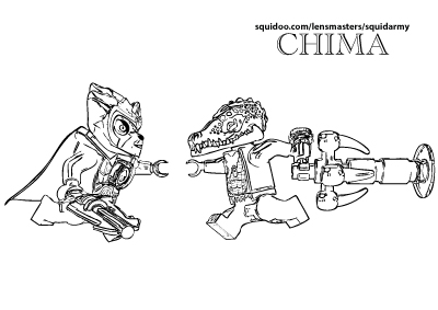 Lego Chima Coloring Pages Lennox Vs Cragg