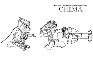 Lego Chima Gorilla Coloring Pages