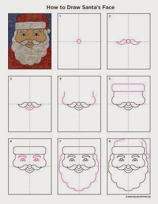 http://artprojectsforkids.org/2013/12/how-to-draw-santas-face.html