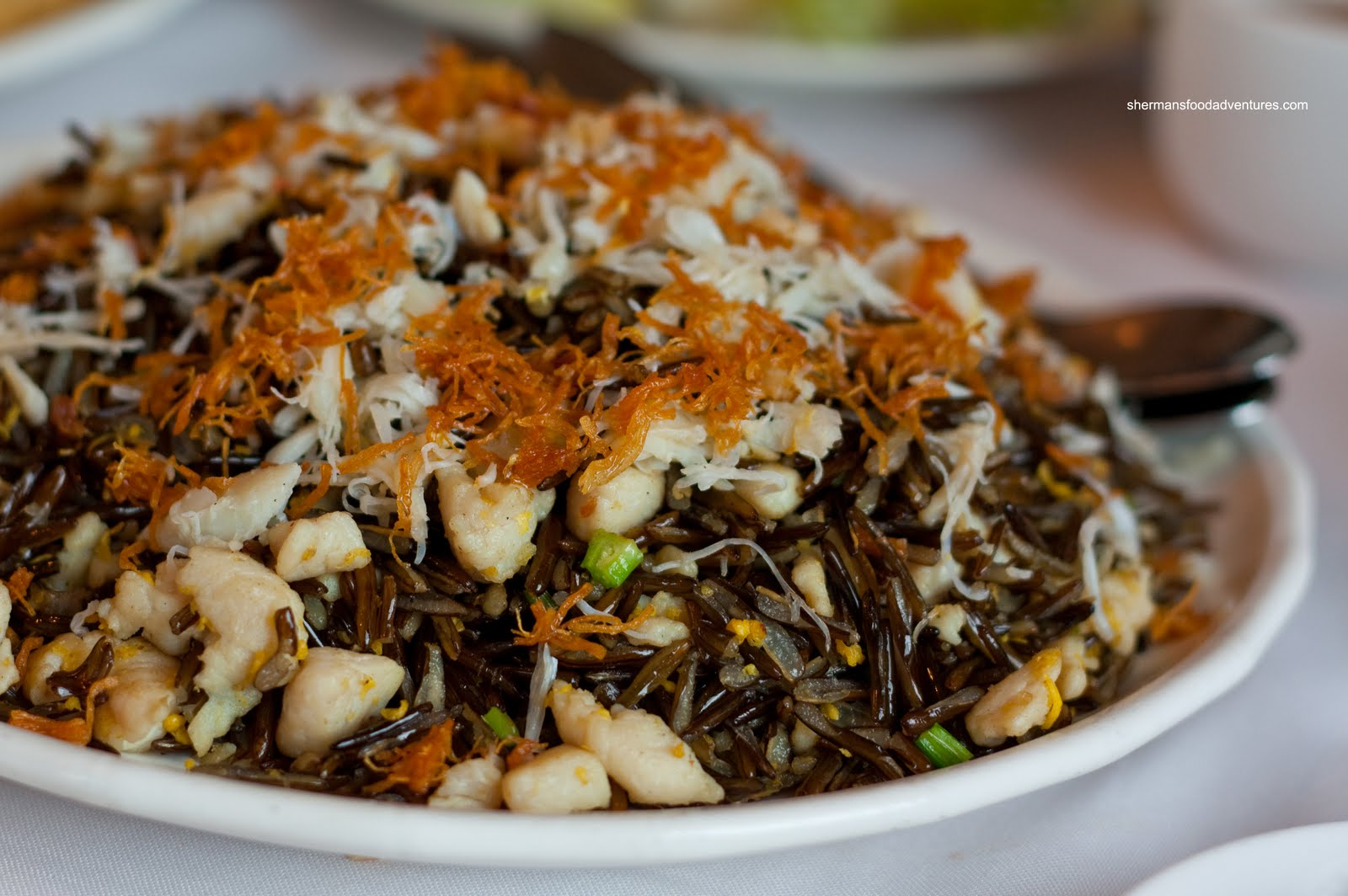 wild rice rather than the standard white rice added into