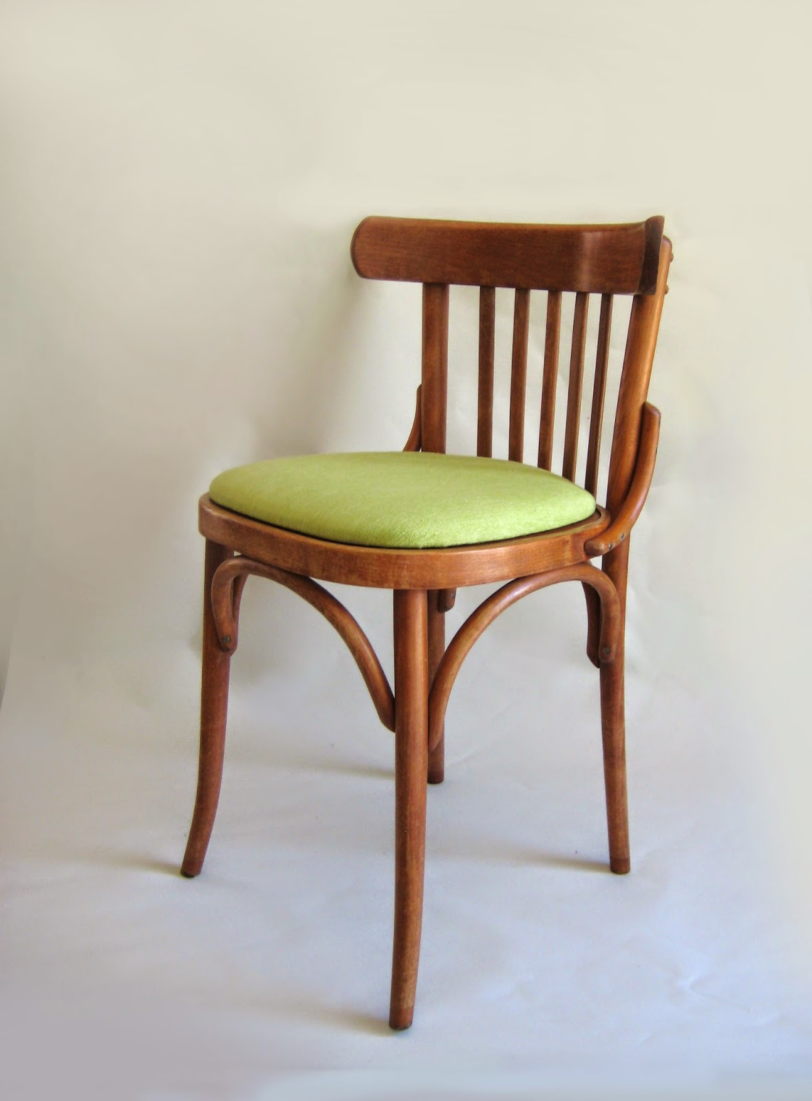 After restored, vintage bentwood chairs cafe bistro mid century