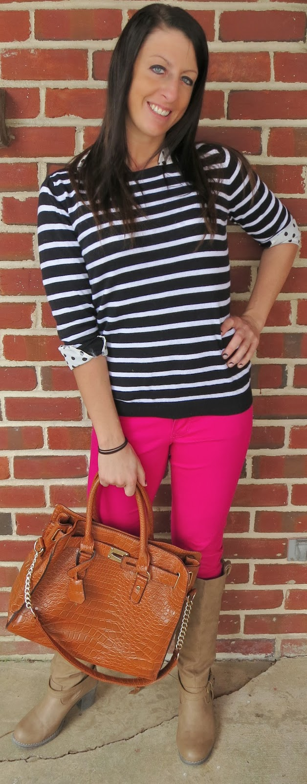 Fashion, ootd, Outfit Ideas, outfit of the day, Outfits, pink pants, polka dots, rosegal, stripes,