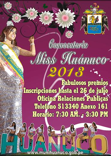 MISS HUANUCO 2013