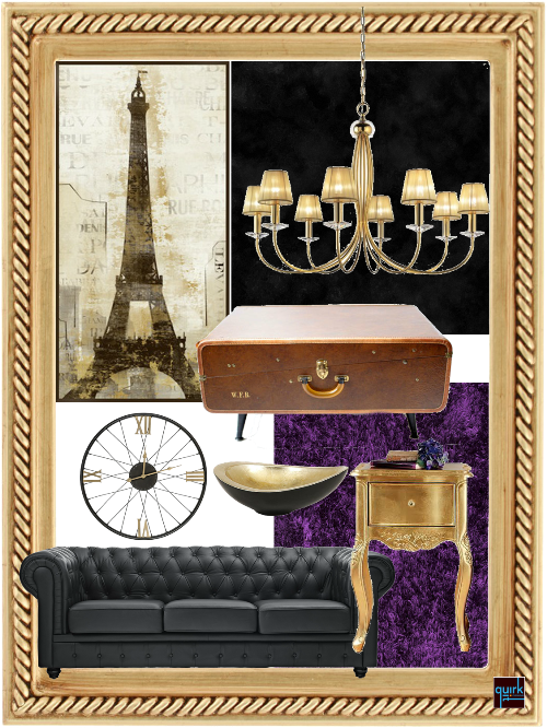 Quirk It Design_eiffel paris room home decor inspiration_DIY_Quirky_Home_Decor_moodboard_concept_interior design