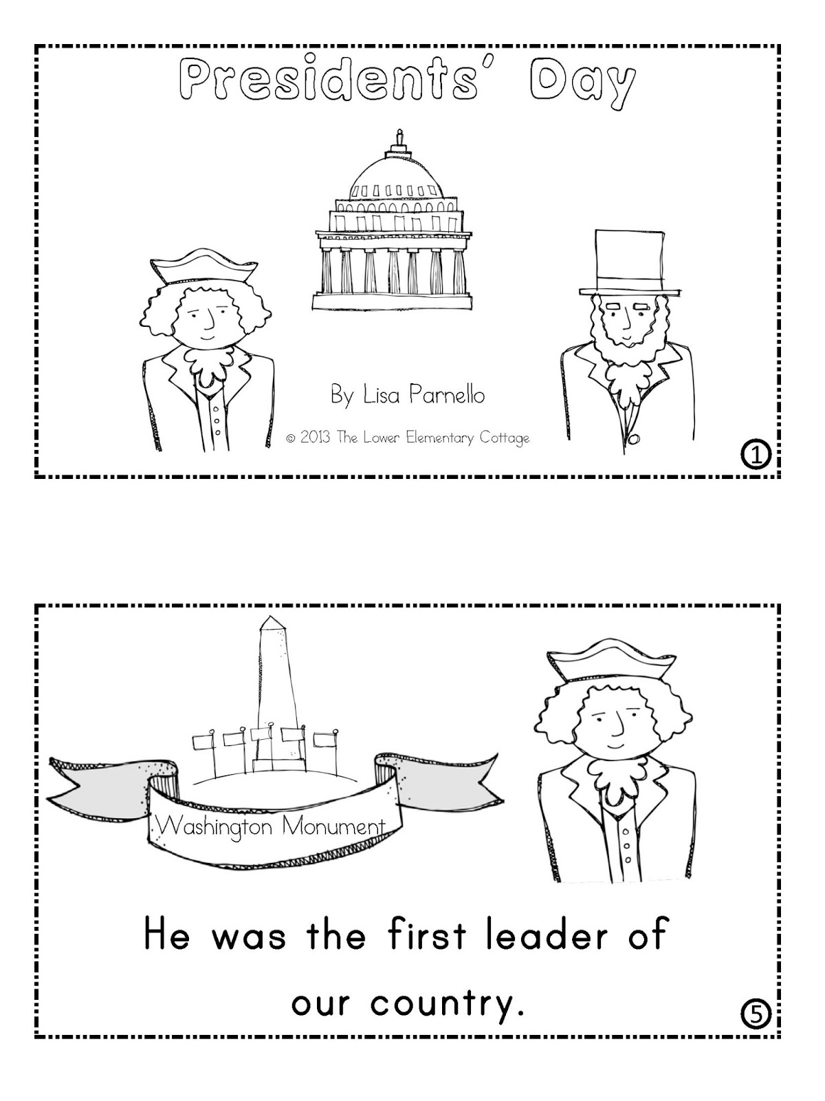 the lower elementary cottage presidents day emergent reader