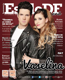 Magazine Cover : Eleazar Gómez, Paulina Goto Magazine Photoshoot Pics on Estilo Df Magazine Mexico January 2014