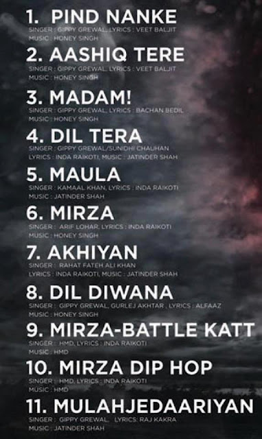 Track List - Movie - Mirza The Untold Story