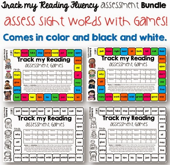 Reading fluency is now fun with this center activity/ asessment