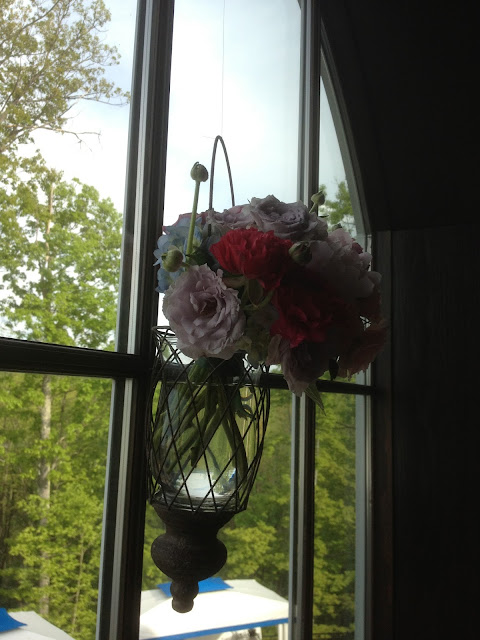Saratoga National Golf Club Wedding Pictures - Hanging Arrangements - Splendid Stems - Wedding Flowers