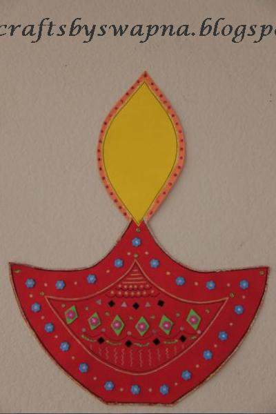 Diwali diya papercraft wall decoration ideas with lights ppazfo